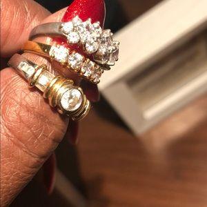 Three Faux Diamond Rings